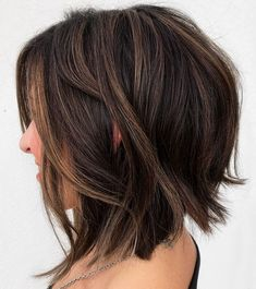 60 Fun and Flattering Medium Hairstyles for Women Brunett. - 60 Fun and Flattering Medium Hairstyles for Women Brunette Shaggy Bob with Su - Curly Hair Styles, Medium Hair Styles, Medium Short Hair, Updo Styles, Medium Bob Hairstyles, Summer Hairstyles, Cool Hairstyles, Hairstyles For Women, Wedding Hairstyles