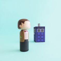 Doctor Who Kokeshi Doll - Sketchinc