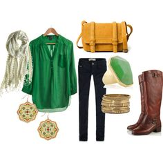 Totally stole this from Megan but love this look...too bad the green shirt is sold out :( love it!