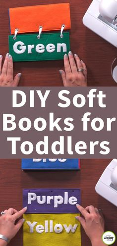 Quiet books are great projects to make for your own little ones or to give as gifts. Learn how to make your own DIY quiet book with felt pages complete with eyelet holes to easily secure all of the pages together- Ashley Hough shows you how.
