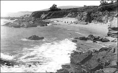 Moss and Diamond St. beach in Laguna Beach California circa 1918