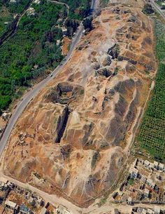 Excavated site of Jericho Israel. Oldest city on earth, dates back to 8000 B.C.E.
