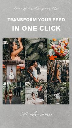 10 Bali Travel Blogger Mobile Lightroom Presets for a rich and consistent Instagram Feed & Theme.