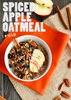 Spiced Apple Breakfast Bowl - ilovevegan.com