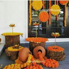 Diwali Decorations At Home, Wedding Stage Decorations, Festival Decorations, Flower Decorations, Mehendi Decor Ideas, Mehndi Decor, Desi Wedding Decor, Wedding Mandap, Wedding Receptions