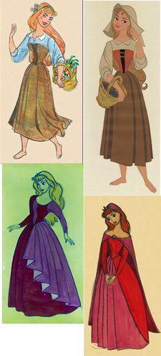 Princess Aurora/Briar Rose concept art