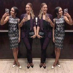 #lurexmania  Lindas ♡ @lalanoleto com o vestido + faixa lurex eletrocardiograma ⚡️ e @claudiabartelle com smoking + calça em lurex uva 💜  Beauties Lala Noleto wearing the electrocardiogram lurex dress and Claudia Bartelle wearing the grape lurex tuxedo jacket + trouser #carolbassi #carolbassibrand #fhits @fhits