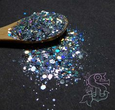 """Glitter mix """"Space oddity"""" holographic solvent resistant glitter, nail art, UV resin,"""
