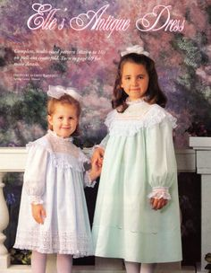 #38 Winter 95 - Elle's Antique Dress, 4-10, antique dress recreation by Sue Pennington