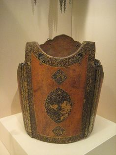 Torso Armor (Char-Aina) leather,iron,gold and pigments 18th cent