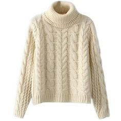 Chicnova Fashion Bread Twist High-necked Sweater (€21) ❤ liked on Polyvore featuring tops, sweaters, shirts, chicnova, shirts & tops, brown long sleeve shirt, twist top, brown tops and high neck shirts