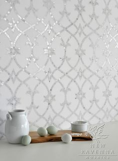 this would be so pretty for a bath tub surround. bathroom tile. classy white