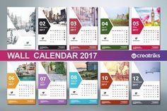 Wall Calendar 2017 - v008 by Creatricks on @creativemarket