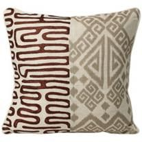 "Nativa Tribal Brown 18"" Pillow"