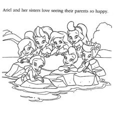 Little Mermaid Coloring Pages Photo
