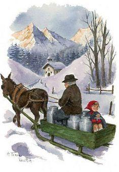 E' una illustratrice francese di paesaggi montani e scene rurali, il tutto con la tecnica dell'acquarello. ...