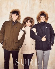 Ryu Hye Young, Park Bo Gum and Go Kyung Pyo - Sure Magazine December Issue '15