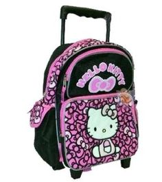 Hello Kitty Toddler Rolling Backpack Ribbons Black Pink.  28.99 Customer  Discussions and Customer Reviews. ba42e5716e1f9