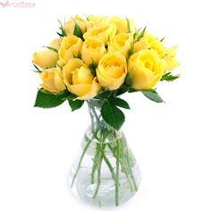 Lemon twist - Buchet de trandafiri galbeni