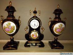 Gebruikt: Schouwgarnituur Limoges met stempel (Klokken & Barometers) - Te koop voor € 200,00 in Avelgem Kerkhove