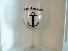 Custom Wine Glass Stay Anchored wine glasses by YouniquelyElegant #BlackFriday #CyberMonday