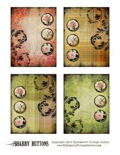Ephemera's Vintage Garden: Free Printable: Shabby Chic Button Cards