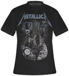 #TShirt Mec METALLICA - Kirk Ouija #metallica www.rockagogo.com