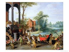 A Satire of the Folly of Tulip Mania. Love this painting.