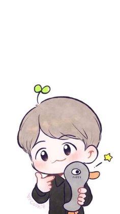 Chanbaek Fanart, Kpop Fanart, Got7, Exo Cartoon, Exo Fan Art, Hello Kitty Wallpaper, Kpop Exo, Cute Drawings, Baekhyun
