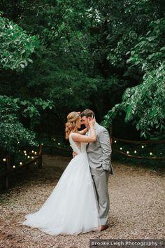 Wedding photography at rustic outdoor venue