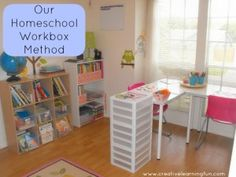 Our Home Schooling Workbox System By Creative Learning Fun www.creativelearningfun.com