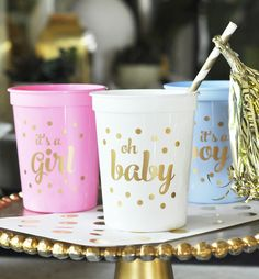 Oh Baby! Gold Party Cups