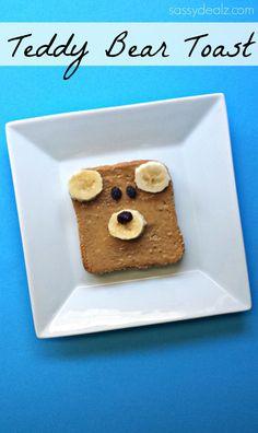 Teddy Bear Toast (Healthy Kid's Breakfast Idea) - Sassy Dealz