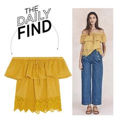 """The Daily Find: Madewell Off-Shoulder Top"" by polyvore-editorial ❤ liked on Polyvore featuring Madewell and DailyFind"
