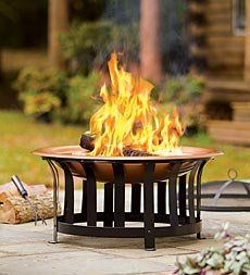 Shop outdoor fire pits, wood-burning fire pits and propane gas fire pits, and fire pit tables, fire pit covers, fire bowls and more backyard fire pit ideas. Chiminea Fire Pit, Fire Pit Backyard, Fire Pit Bowl, Fire Bowls, Copper Fire Pit, Portable Fire Pits, Round Fire Pit, Backyard Furniture, Wood Burning Fires