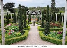 formal box hedging in gardens - Google Search