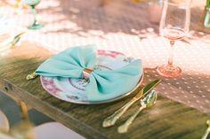 bow napkins | Esther Louise