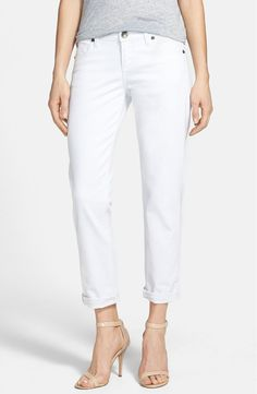Pin for Later: Found: A Pair of White Jeans You'll Want to Show Off to the World  Kut From the Kloth Catherine Boyfriend Jeans (White) ($80)
