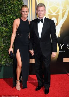 Parents-to-be: Cat Deeley seemed to be taking her pregnancy in a stride as she arrived at ...