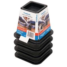 Shepherd Hardware 9523 Molded Bed Risers Black Finish for sale online Adjustable Bed Risers, Dorm Storage, Storage Boxes, Walmart Online, Bed With Posts, Refinish Kitchen Cabinets, Black Bedding, Popular Christmas Gifts, Perfect Pillow