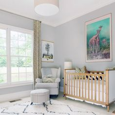 A nursery room full of cool decor! (via Lay Baby Lay)