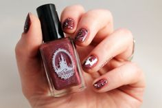 Enchanted Polish Mr Burgundy Linry's Review Reindeer Christmas nail art