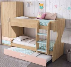 20 Cool Bunk Beds for the Coolest Siblings Ever - mybabydoo Siblings Sharing Bedroom, Sibling Bedroom, Baby Bedroom, Girls Bedroom, Cool Bunk Beds, Kid Beds, Shared Bedrooms, Small Room Bedroom, Decorate Your Room