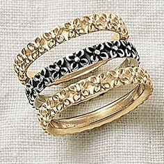 Delicate Blossom Ring, shown in sterling silver and 14k gold #JamesAvery