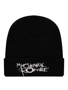My Chemical Romance Black Parade Logo Beanie Weird Fashion, Punk Fashion, Love Fashion, Lolita Fashion, Fashion Styles, Fashion Boots, Fashion Dresses, Cute Emo Outfits, Edgy Outfits