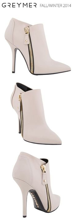SHOES fall-winter A rock - glamour napa calfskin ankle boot with zip in gold coloured metal.GREYMER SHOES fall-winter A rock - glamour napa calfskin ankle boot with zip in gold coloured metal. Dream Shoes, Crazy Shoes, Me Too Shoes, Pretty Shoes, Beautiful Shoes, Shoe Boots, Shoes Heels, Ankle Boots, Dress Boots