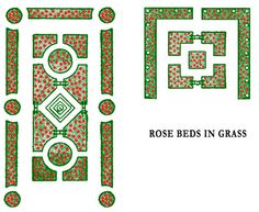 Small rose garden plans designs rose garden designs for small yard Formal Garden Design, Rose Garden Design, Patio Design, Layout Design, Plan Design, Design Ideas, Traditional Roses, Victorian Gardens, One Rose