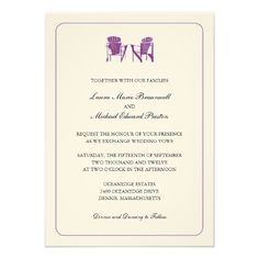 Two Adirondack Chairs Wedding Invites ReviewReview on the This website by click the button below...