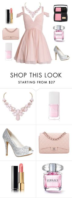 pink prom dress, homecoming dress, bridesmaid dress~ by wrightwendy on Polyvore featuring ALDO, Chanel, Humble Chic, Lancôme and Christian Dior