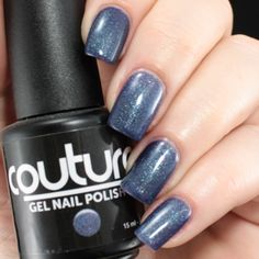 "#68 ""After Midnight"" #gelnailpolish #gelnails #couturegelnailpolish #soakoff #soakoffgel #nailpolish #bluenails #blue #mani #manicure"